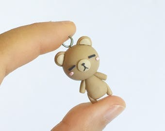Mr. Bear Polymer Clay Charm