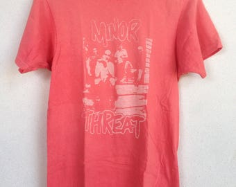 Rare Vintage Minor Threat hardcore punk tshirt M