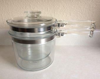 Pyrex  6283 Glass Double Boiler 1.5 Quart