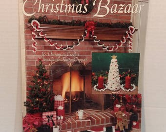 Christmas Bazaar 16 Knitting Crochet Patterns by Leisure Arts