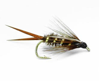 Fly Fishing Trout Flies Prince Nymph - Hand Tied Assorted Sizes 12,14,16,18 One Dozen