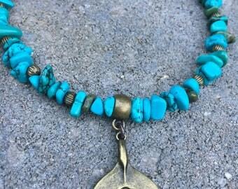 Beach anklet, Ankle Bracelet, Anklet, Whale tail anklet, Beaded Anklet, Ankle Jewelry, Beach Jewelry