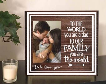 Dad picture frame - dad photo frame - dad birthday gift - dad frame - fathers day picture frame - gift for dad - fathers day - father's