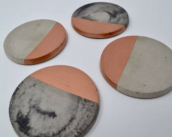 Copper Dipped Concrete Coaster