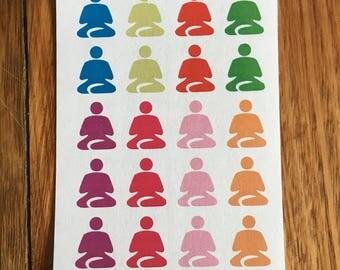 Meditation functional sticker #053- ECLP, Kikki K, Happy Planner