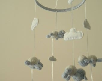 Decorative Cabinet carousel sheep and clouds