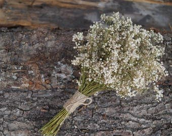 Dried white gypsy bouquet A bouquet of dried natural babys breath Wedding bouquet Dried flower bouquet Gypsophilia