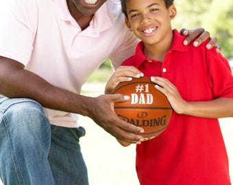 Customized Personalized Basketball Spalding Indoor/Outdoor Official Size Father's Day Gift #1 DAD