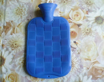Vintage New German Rubber Hot Water Bottle, Excellent vintage condition, as it was never-used one. Great item for collectors and using.