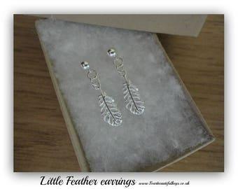 Little Feather stud  earrings