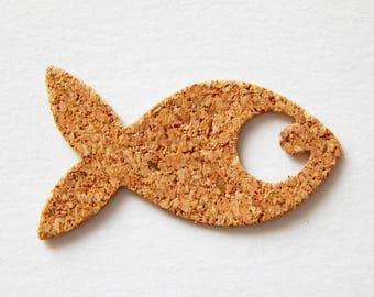 Cut-out pattern fish Cork - 3.6 cm