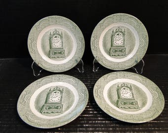 "FOUR Royal China The Old Curiosity Shop Bread Plates 6 1/4"" Set of 4 EXCELLENT!"