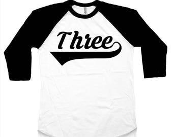 Third Birthday - 3rd Birthday Shirt - 3rd Birthday Outfit - Third Birthday Top - I'm This Many - Three - Third Birthday Outfit
