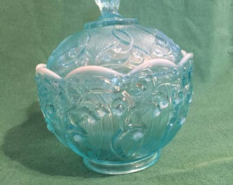 Fenton Lilies of the Valley Candy Dish
