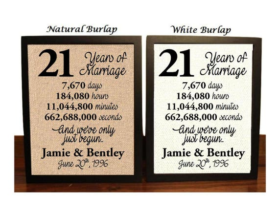 What Is The Traditional Gift For 20th Wedding Anniversary: 21st Wedding Anniversary 21 Year Wedding Anniversary 21st