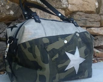 CAMOUFLAGE AND LIN LAMÉ MONEY BAG