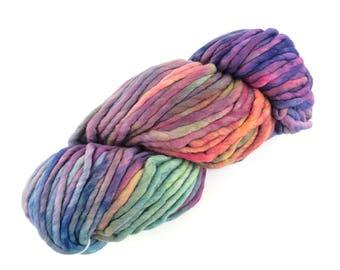 Malabrigo Rasta Aniversario 005 Merino Wool Super Bulky Kettle Dyed Yarn Merino Yarn Hand Dyed Rainbow Colors Hand Painted Merino 90 Yds