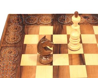 3 in 1 Chess & backgammon board wooden Chess set wood Checker board Chess box Wooden chess board Husband gift Boyfriend gift Mens gift