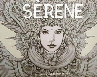 Pre Order SERENE Coloring Book By Nicholas F Chandrawienata
