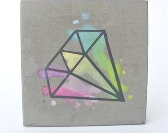 Diamond Pastel Concrete Painting watercolor
