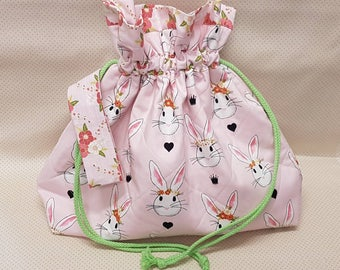 Bunny/Rabbit Project Bag - Knitting - Crochet