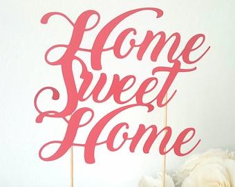 Cake decoration - home sweet home - housewarming
