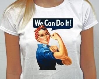 We Can Do It Camiseta, camiseta feminista, camiseta reivindicativa, 100% algodón, camiseta entallada, camiseta unisex