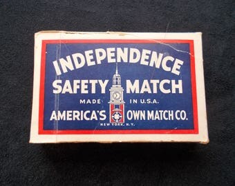 Independence Safety Match Playing Cards, Vintage Playing Cards, Independence Safety Match, Playing Cards with US Tax Stamp