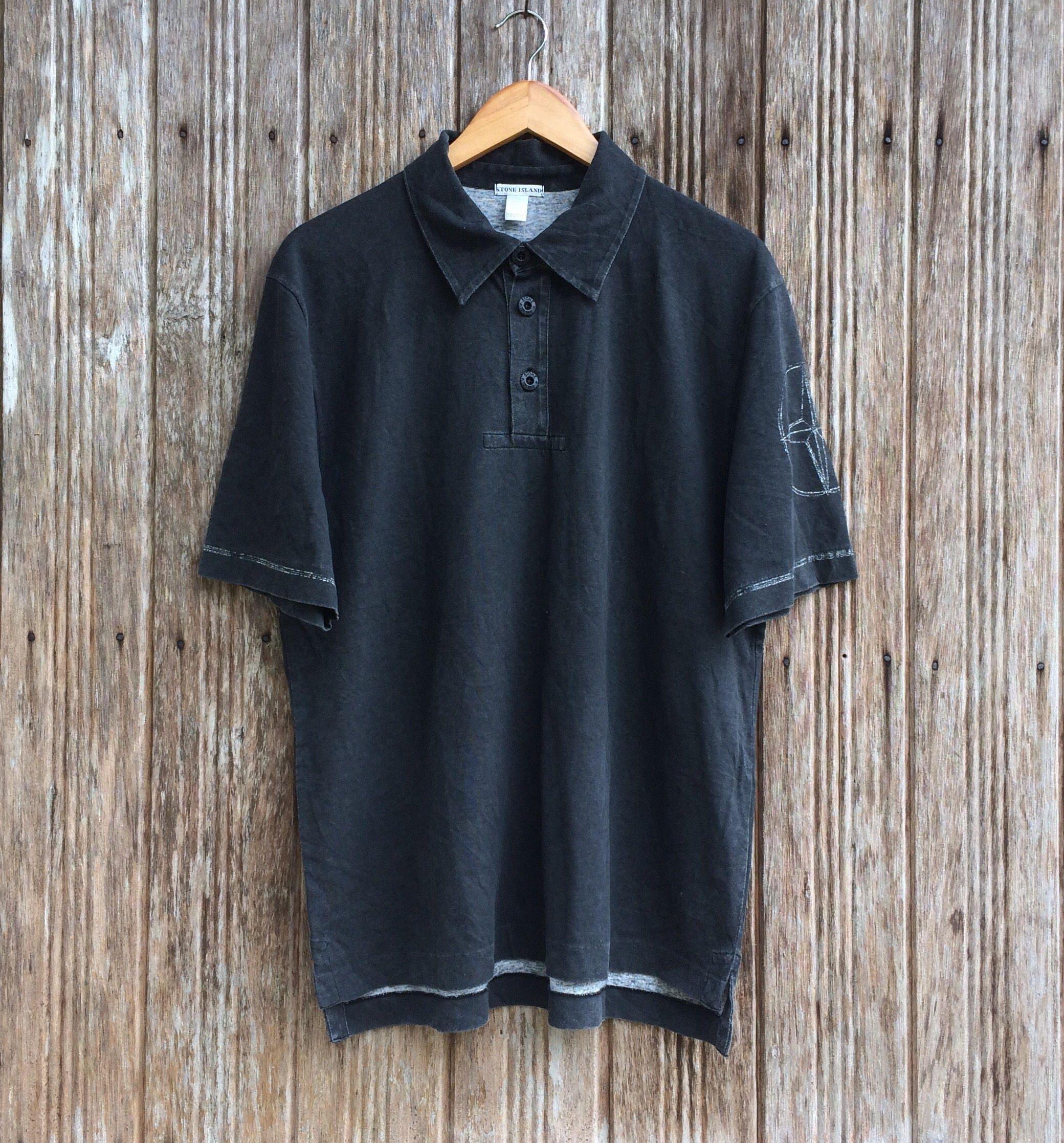 Polo shirt design editor - 20 Off Rare Vintage Stone Island Button Down Shirt Stone Island Sportswear Streetwear Style Shirt Size M L