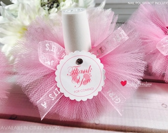 10 Baby Shower Favors|Nail Polish Tutus|Nail Polish Favors|Baby Shower Favors with Custom Tags|Baby Favors|Bridal Shower Favors|Tutu Favors