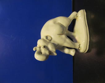 elephant Ceramic figurine, Antique Figurines, Vintage statue, porcelain figurine, porcelain figurine, vintage collectible, USSR porcelain