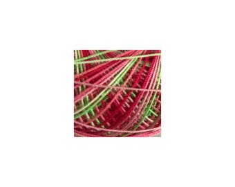 Lizbeth Thread Size 20 Variegated: #156 Juicy Watermelon