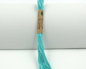 Valdani Hand-Dyed Cotton 6-Strand Embroidery Floss Skein: Variegated #O544 Pond Ripple