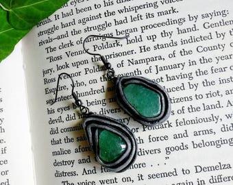 Green Aventurine Earrings.