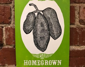 Appalachian Homegrown Print - Pawpaws