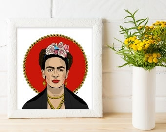Frida Kahlo Poster, Frida Illustration, Frida Kahlo Illustration