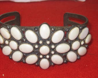 R- 47 Antique   Bracelet  7 inch long missing 1 stone in center