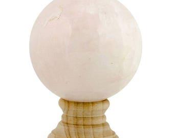 Pink Cream Quartz Stone Sphere