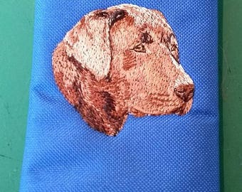 Embroidered Chocolate Labrador Wallets