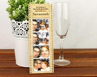 Photo Strip Frame - PlacecardBomboniere Gift and Favour - all in one!