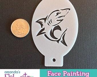SHARK - Face Painting Stencil (Mini)