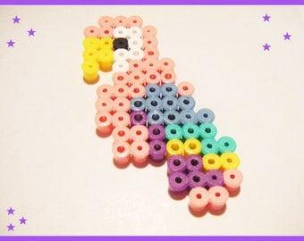 Parrot bead hama pixel art kawaii