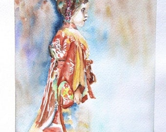 """girl party outfit"" watercolor painting"