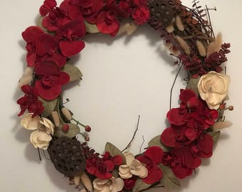 Red Orchid Wreath