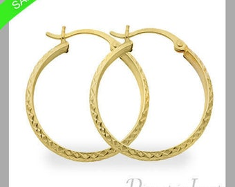 3 mm Hoop Earrings In 14k White Gold On Sale Now Limited Time