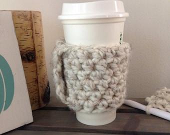 Coffee Cozy | Crochet Coffee Cozy | Coffee Lover | Coffee Sleeve - Wheat