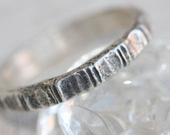 Solid Silver Ring, Stacking Silver Band, Handcrafted Ring, Sterling Silver Band, Stacking Ring,Stackable Ring,