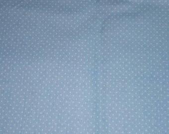 Blue Polk a dot fabric