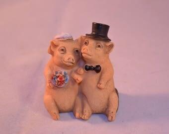 Vintage Pigs Figure
