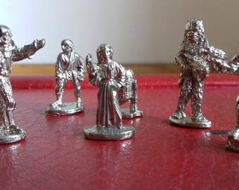 Lot of 6 Star Wars mini metal figurine LFL from Monopoly Game- 90's
